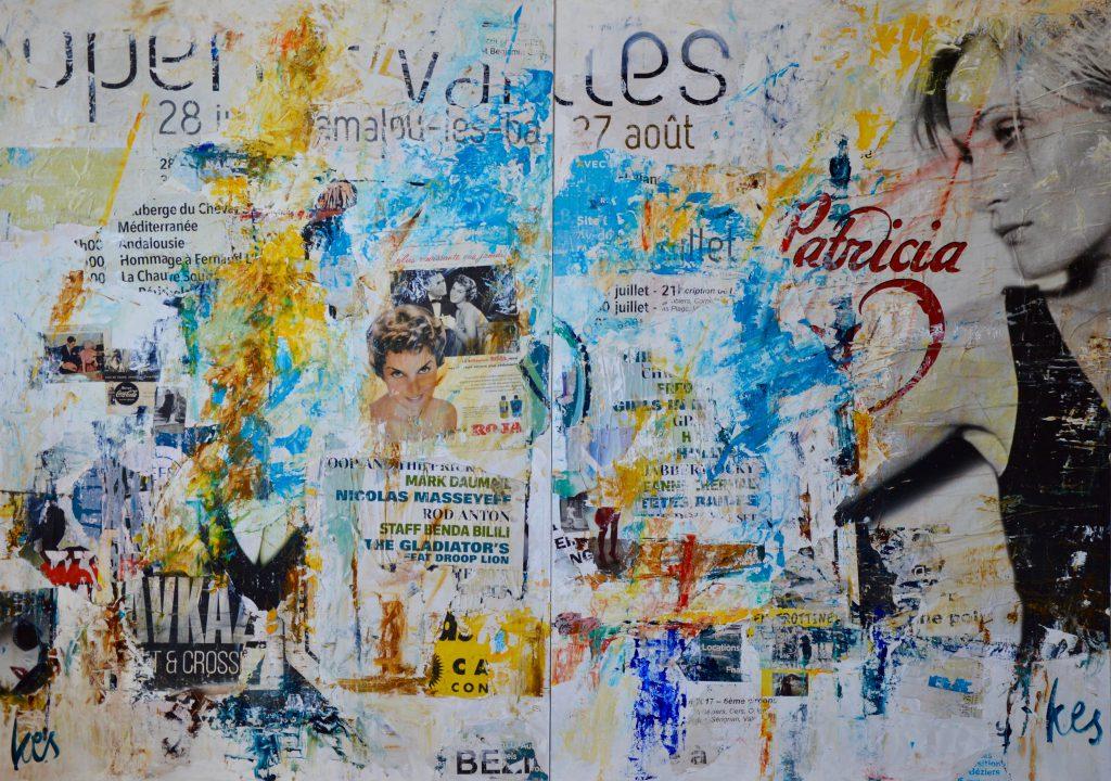 Fransk collage i to dele
